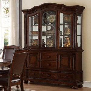 Traditional Dining Buffet and Hutch