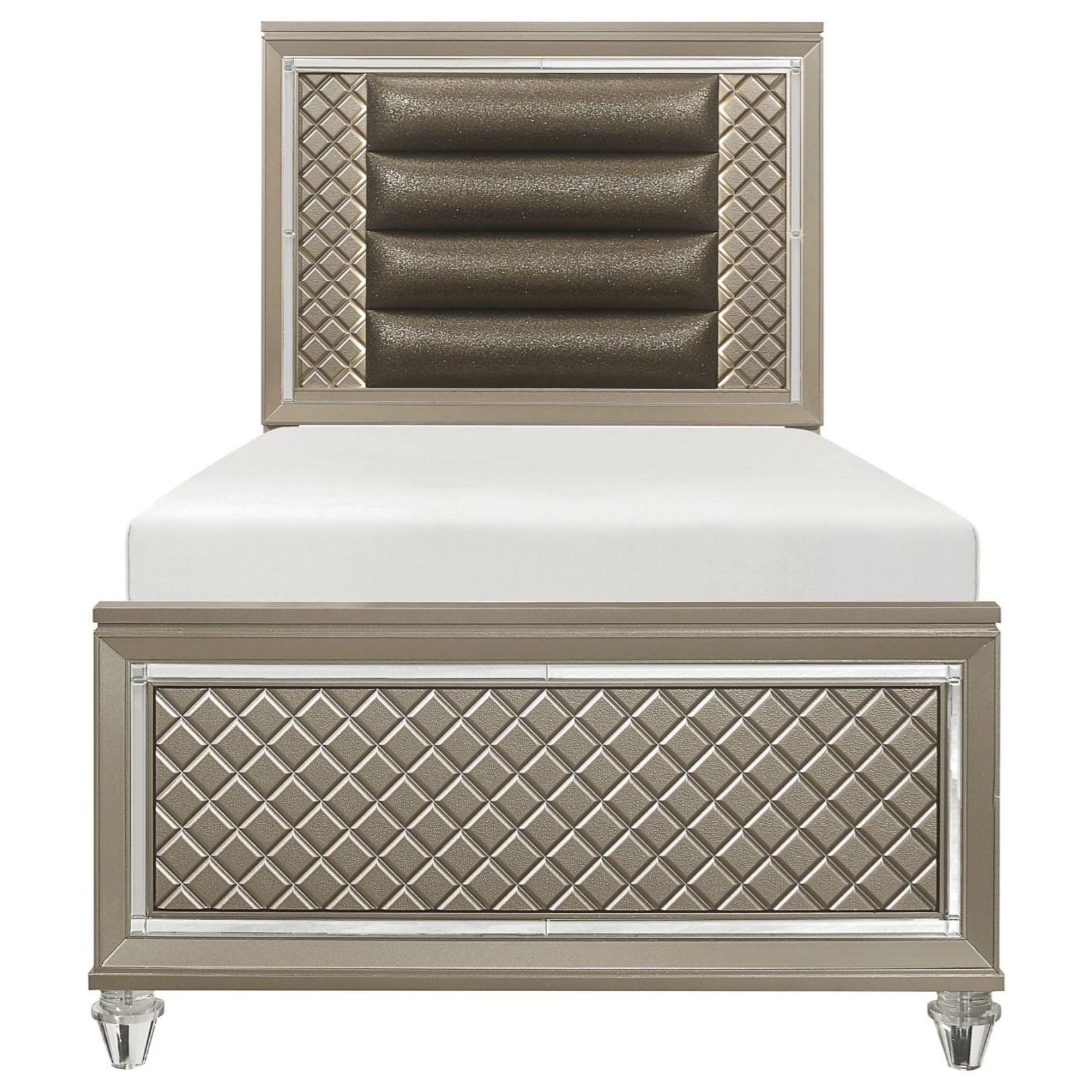 Loudon Twin Platform Bed by Homelegance at Darvin Furniture