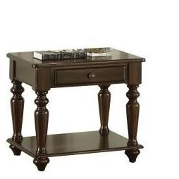Lovington End Table by Homelegance at Nassau Furniture and Mattress
