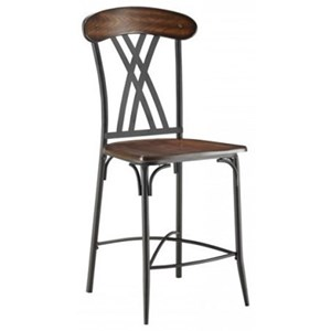 Transitional Counter Height Dining Side Chair with Open Back
