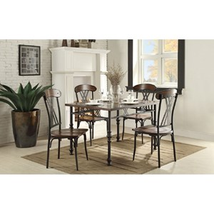 Transitional Kitchen Table and Chair Set