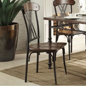 Transitional Dining Side Chair with Open Back