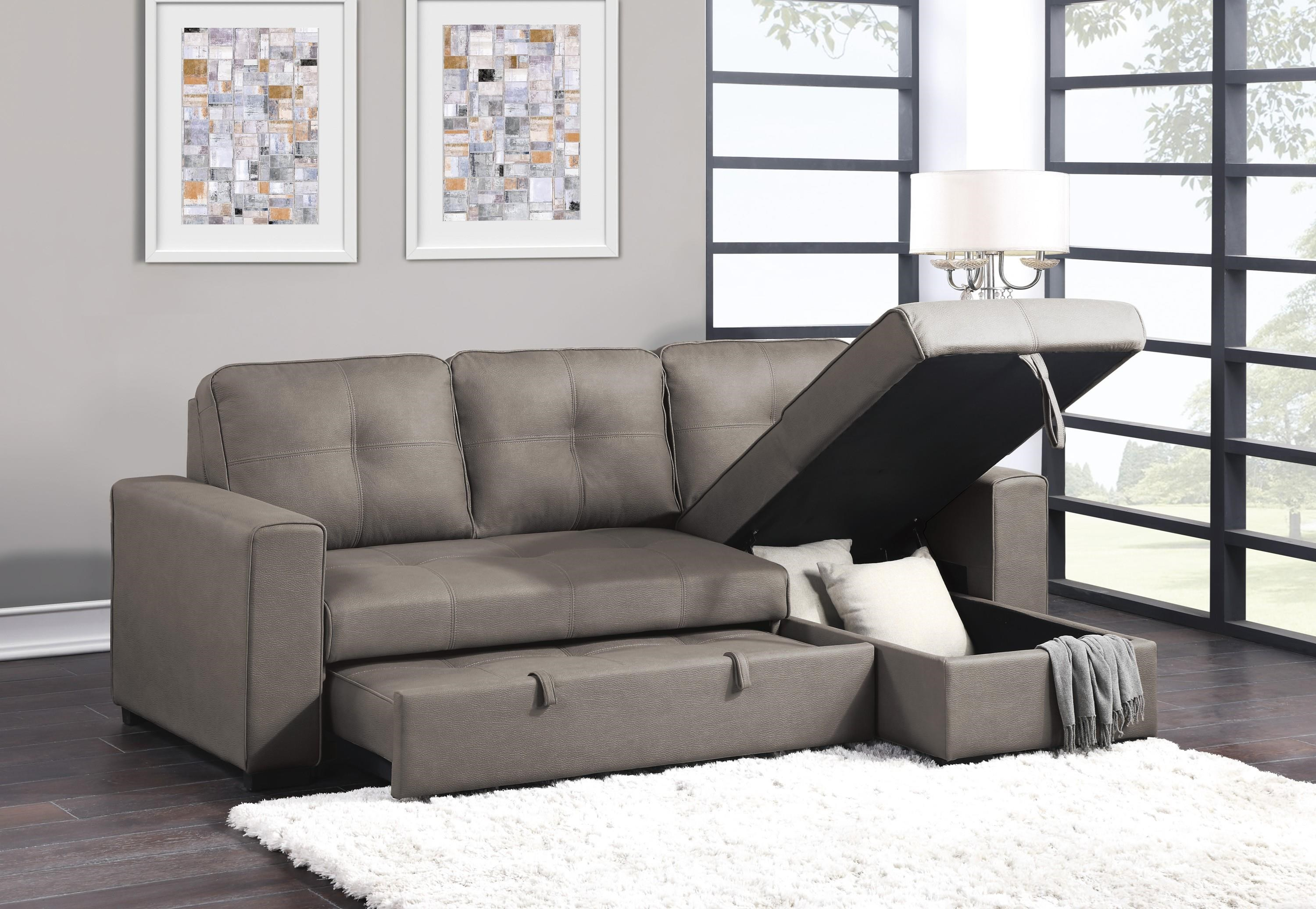 Magnus Reversible Sectional with Chaise by Homelegance at Beck's Furniture