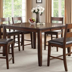 Transitional Counter Height Dining Table with Leaf
