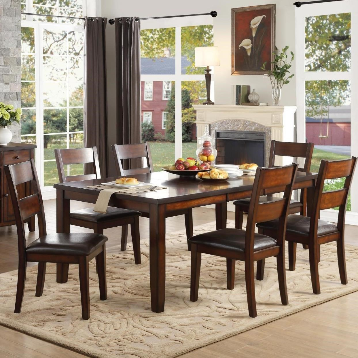Mantello Seven Piece Dining Set by Homelegance at Beck's Furniture