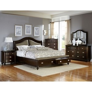 Traditional King Bedroom Group with Footboard Storage