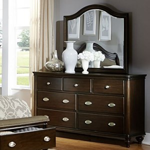 Traditional Dresser and Mirror with 7-Drawers