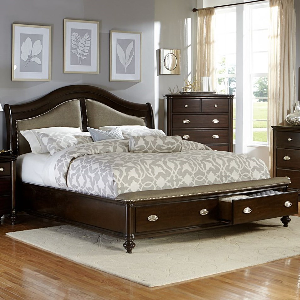 Marston King Storage Bed by Homelegance at A1 Furniture & Mattress