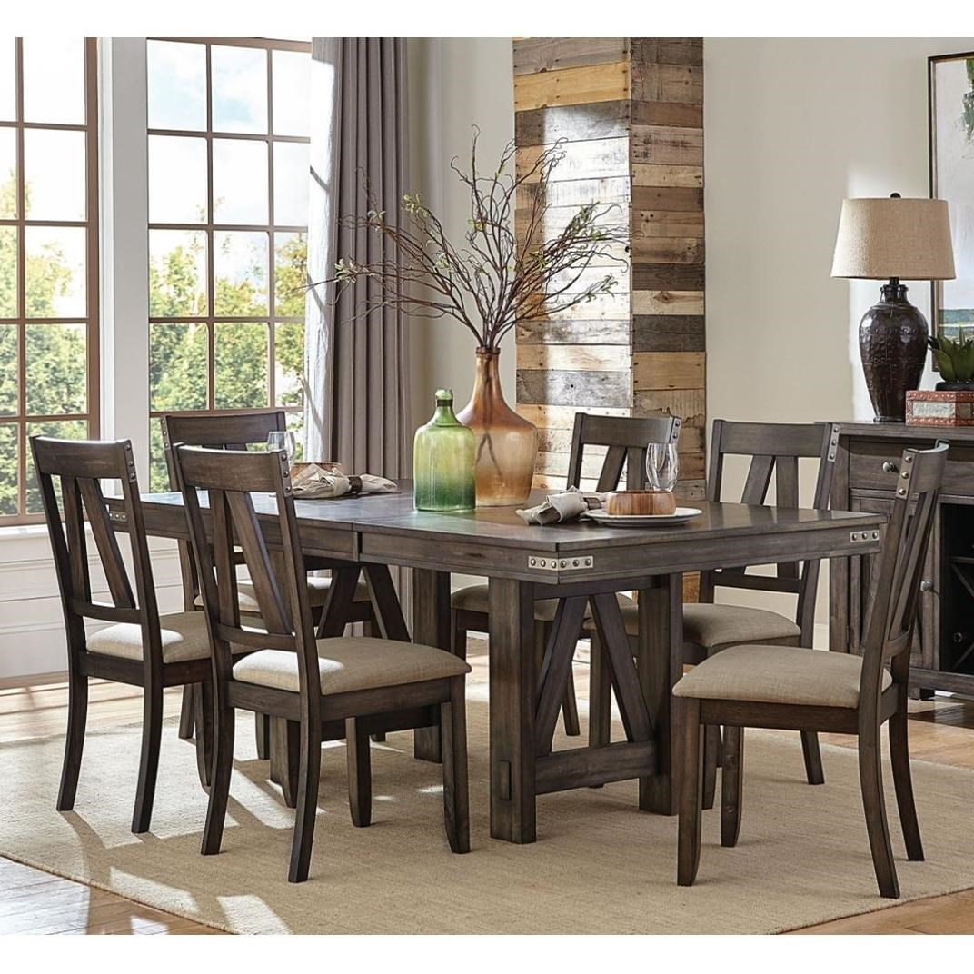 Mattawa 7-Piece Table and Chair Set by Homelegance at Rife's Home Furniture