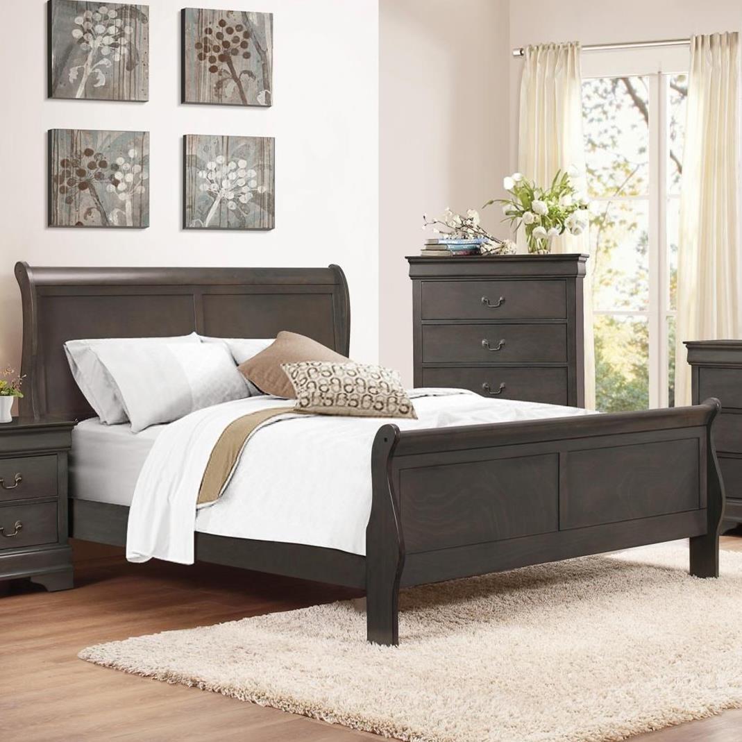 Mayville King Sleigh Bed by Homelegance at Carolina Direct