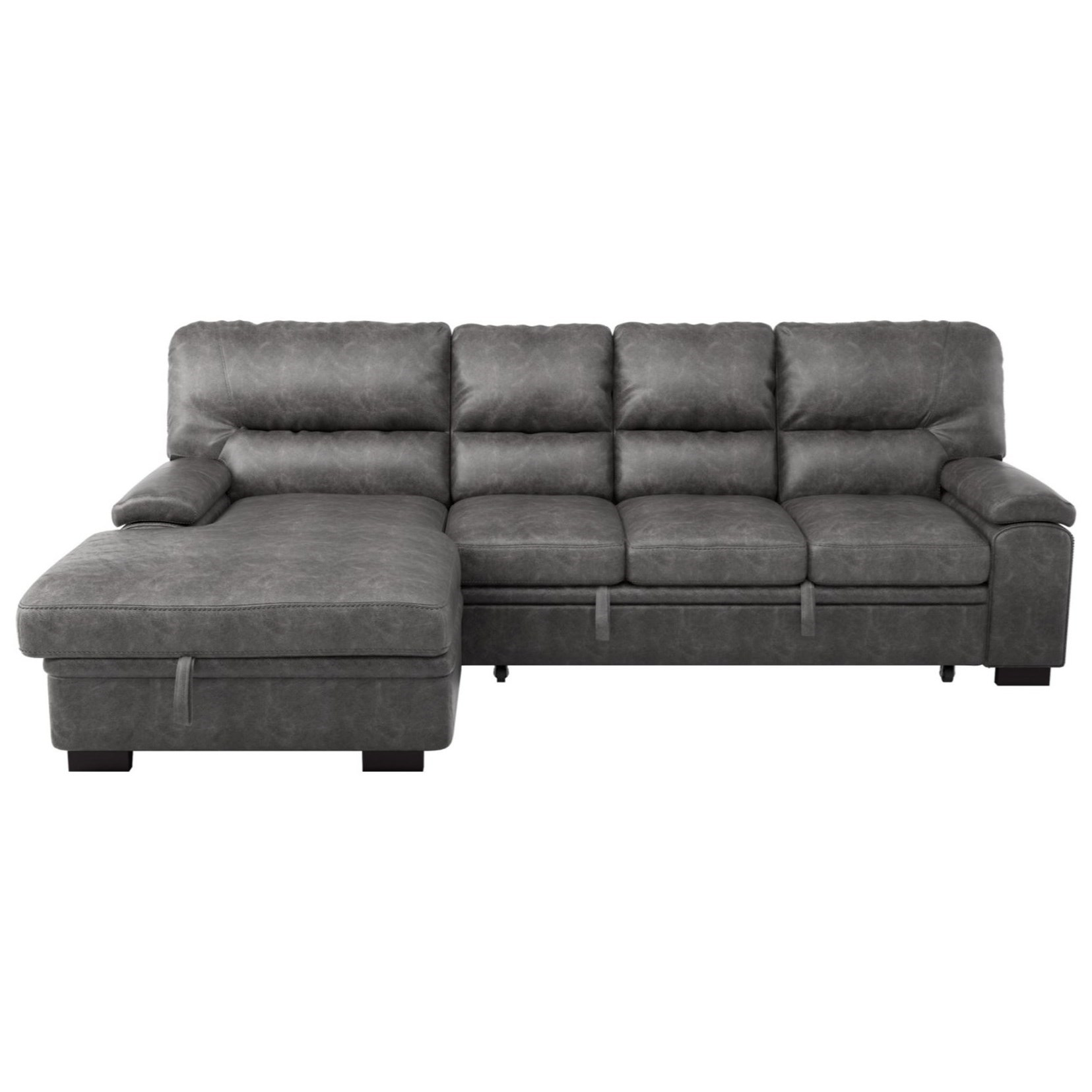 Michigan 2-Piece Sectional with Pull-Out Bed by Homelegance at Darvin Furniture