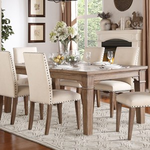 Relaxed Vintage Dining Table with Weathered Look