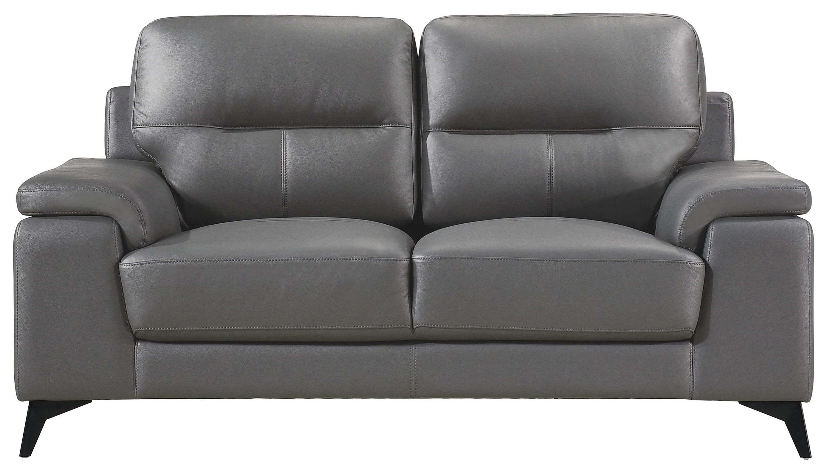 Mischa Contemporary Leather Match Loveseat by Homelegance at Darvin Furniture