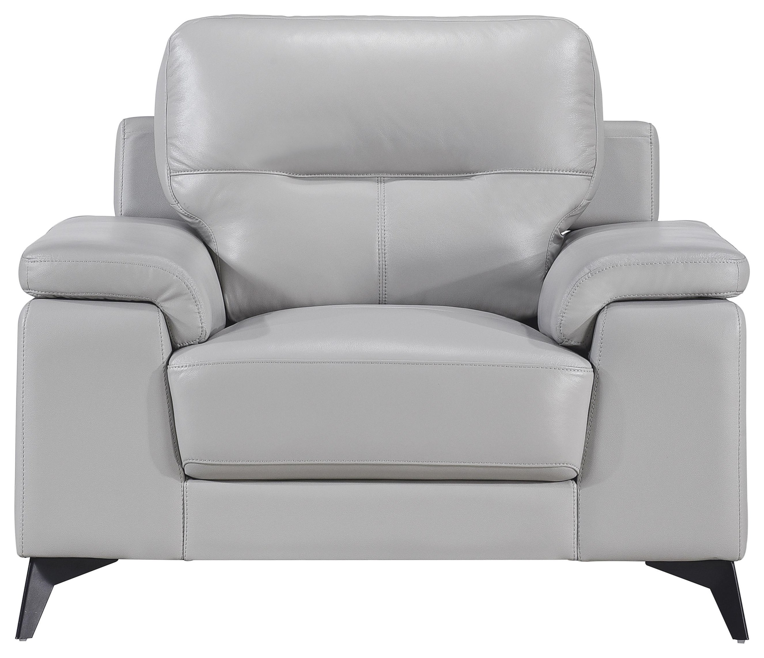 Mischa Contemporary Leather Match Chair by Homelegance at Darvin Furniture