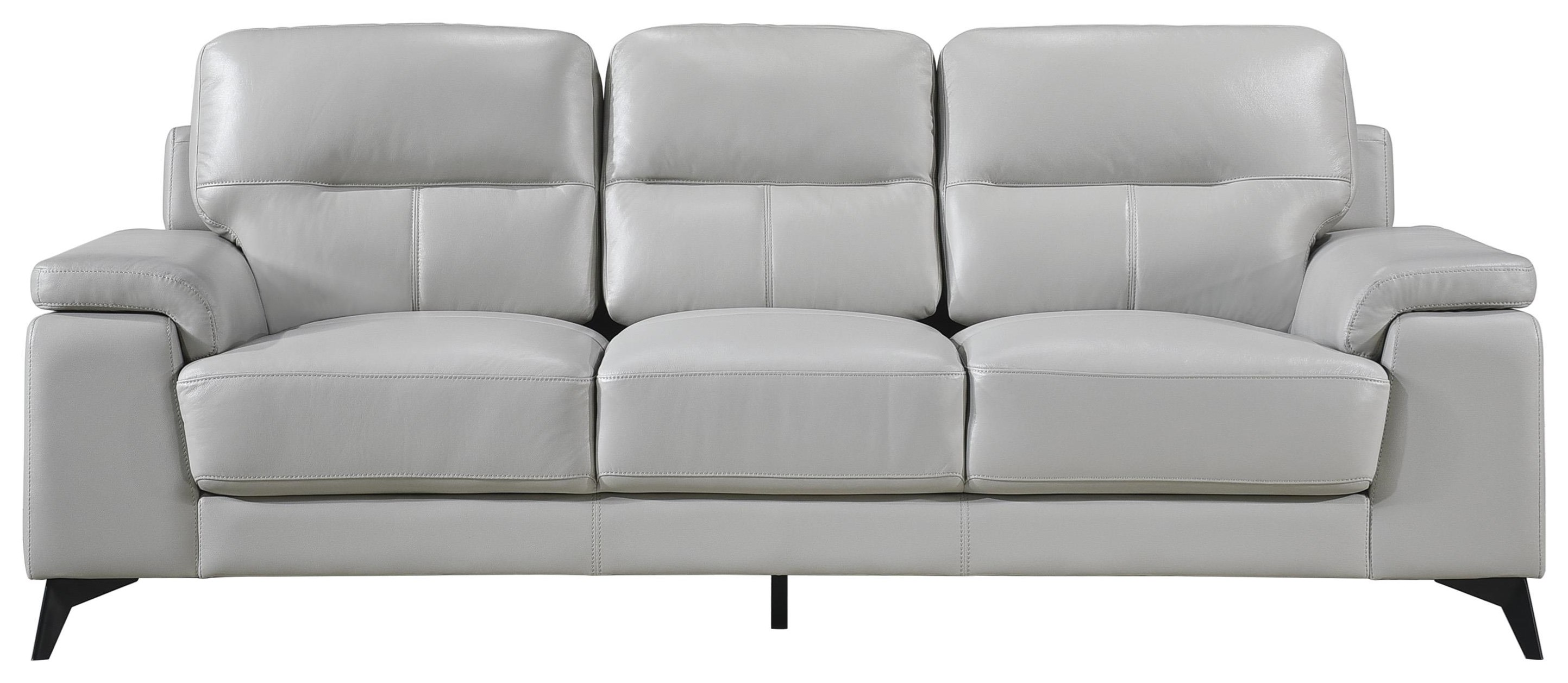 Mischa Contemporary Leather Match Sofa by Homelegance at Darvin Furniture