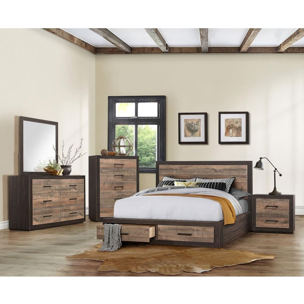 Miter California King Bedroom Group by Homelegance at Rife's Home Furniture