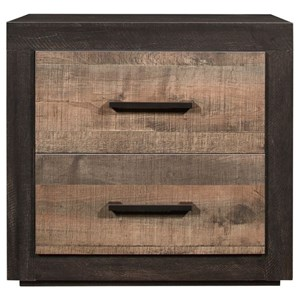 Contemporary 2-Drawer Nightstand