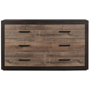 Contemporary Two-Tone 6-Drawer Dresser