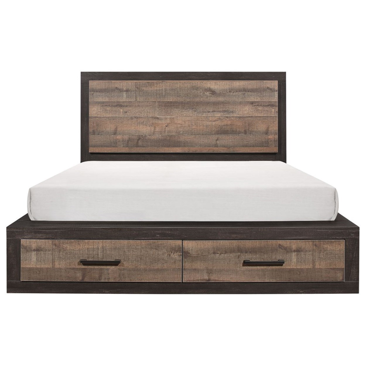 Miter California King Platform Bed by Homelegance at Rife's Home Furniture