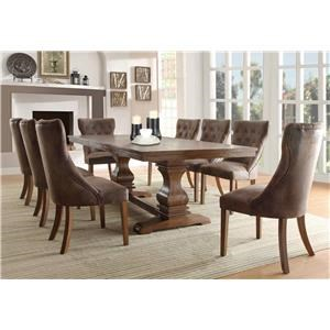 9PC Dining Table & Chairs Set