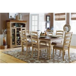 Casual Solid Wood Dining Table w/Butterfly Leaf