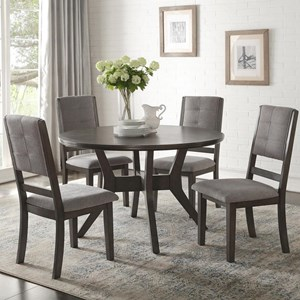 Transitional Five Piece Chair and Table Set