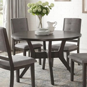 Transitional Round Dining Table