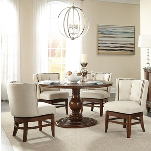 Five Piece Round Table & Chair Set