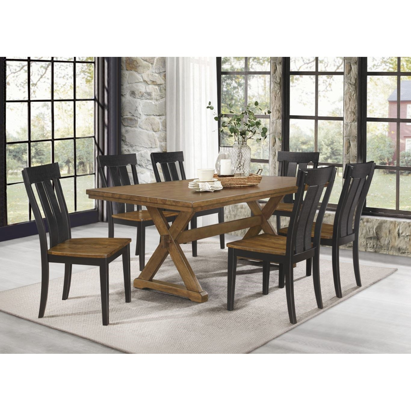 Ormond 7-Piece Table and Chair Set by Homelegance at Beck's Furniture