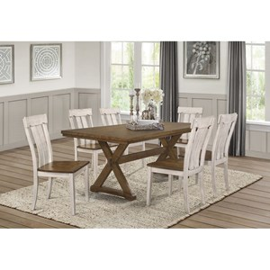Transitional 7-Piece Table and Chair Set