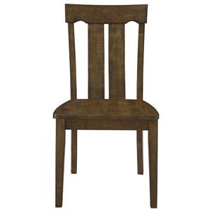 Transitional Slat-Back Side Chair