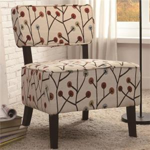 Casual Armless Accent Chair