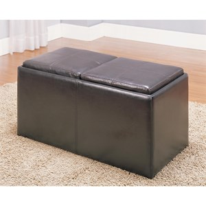 Casual Ottoman with Reversible Trays and Hidden Stools