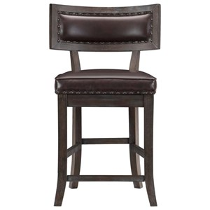 Counter Height Chair with Nailhead Trim
