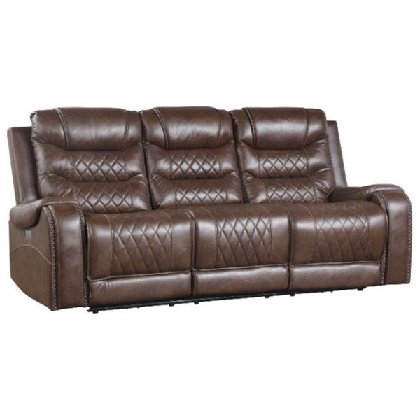 Putnam Power Double Reclining Sofa by Homelegance at Dream Home Interiors