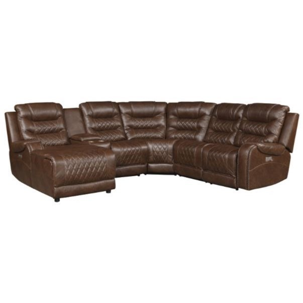 Putnam Power Reclining Sectional by Homelegance at Dream Home Interiors