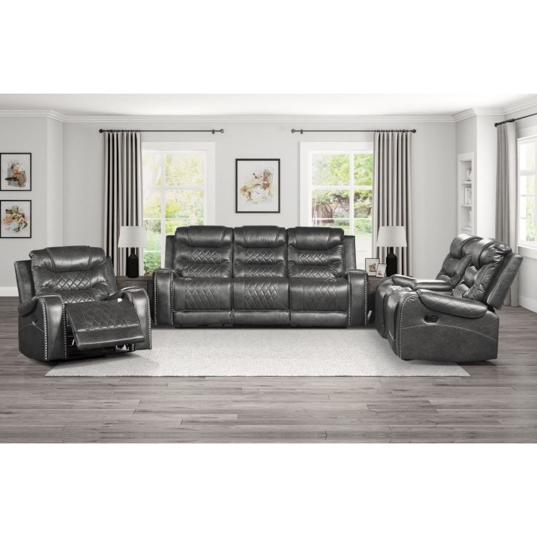 Putnam Reclining Living Room Group by Homelegance at Dream Home Interiors