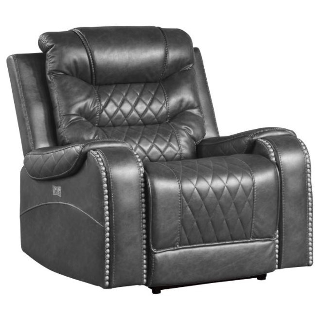 Putnam Power Reclining Chair by Homelegance at Dream Home Interiors