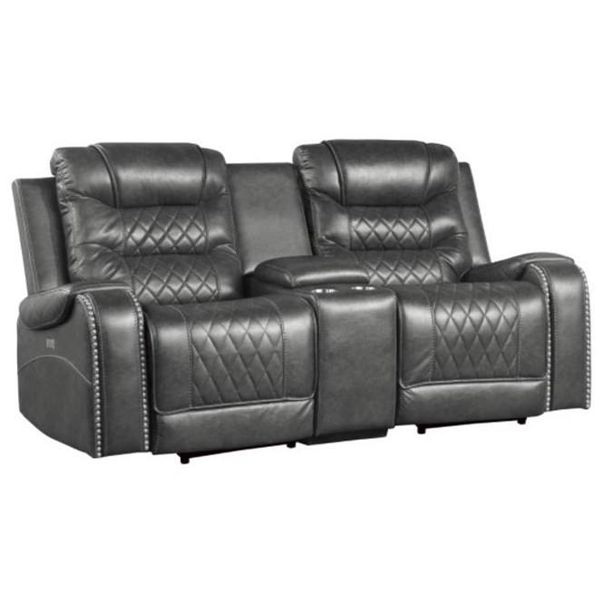 Putnam Power Double Reclining Loveseat by Homelegance at Dream Home Interiors