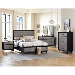 Contemporary Queen Bedroom Group with Storage Bed