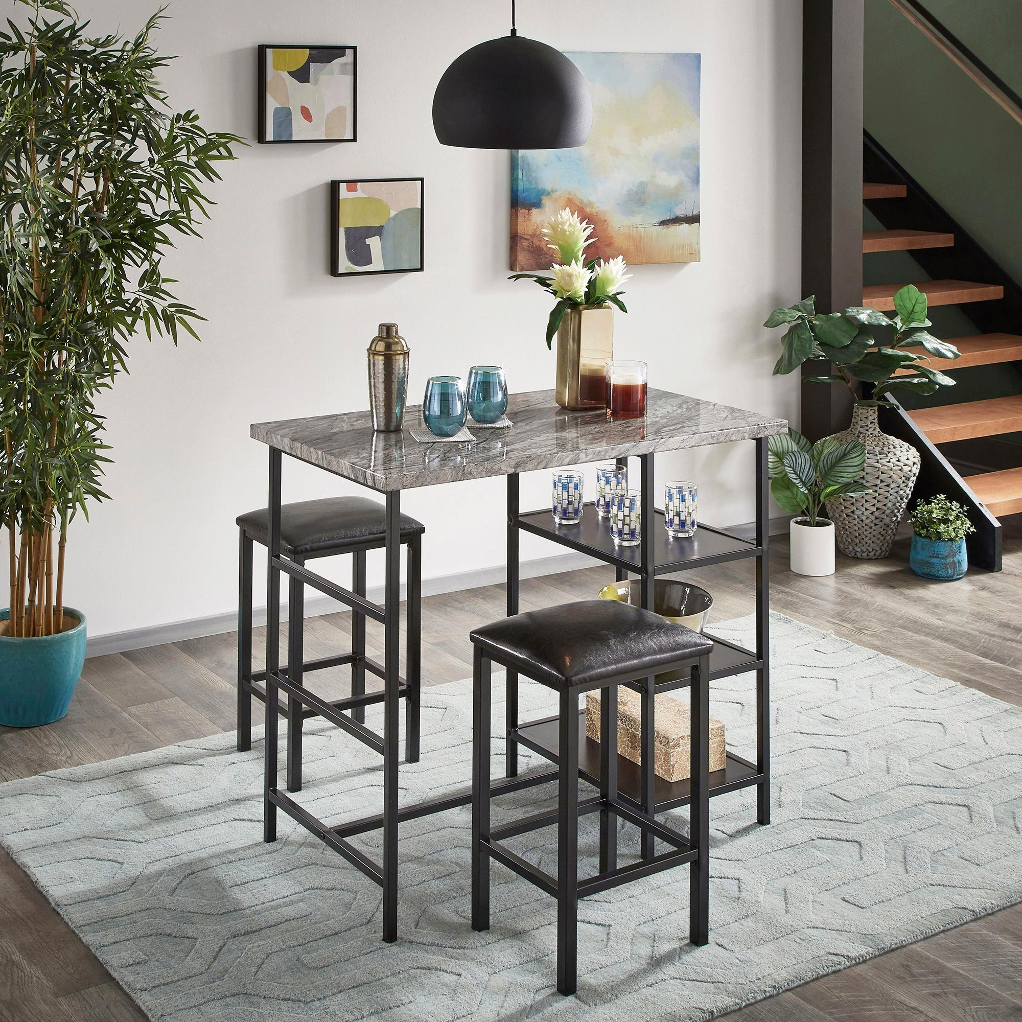 Reko 3 Piece Counter Height Dining Set by Homelegance at Darvin Furniture