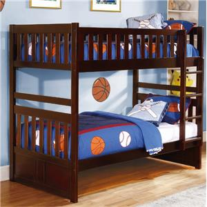 Twin Bunk Bed with Slats