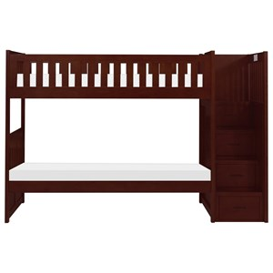 Twin Over Twin Bunk Bed With Step Storage