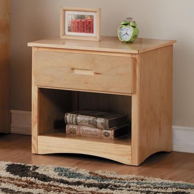 Natural Youth Night Stand by Home Style at Walker's Furniture