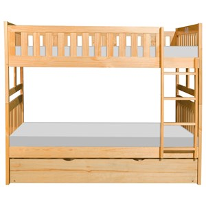 Full Over Full Trundle Bunk Bed