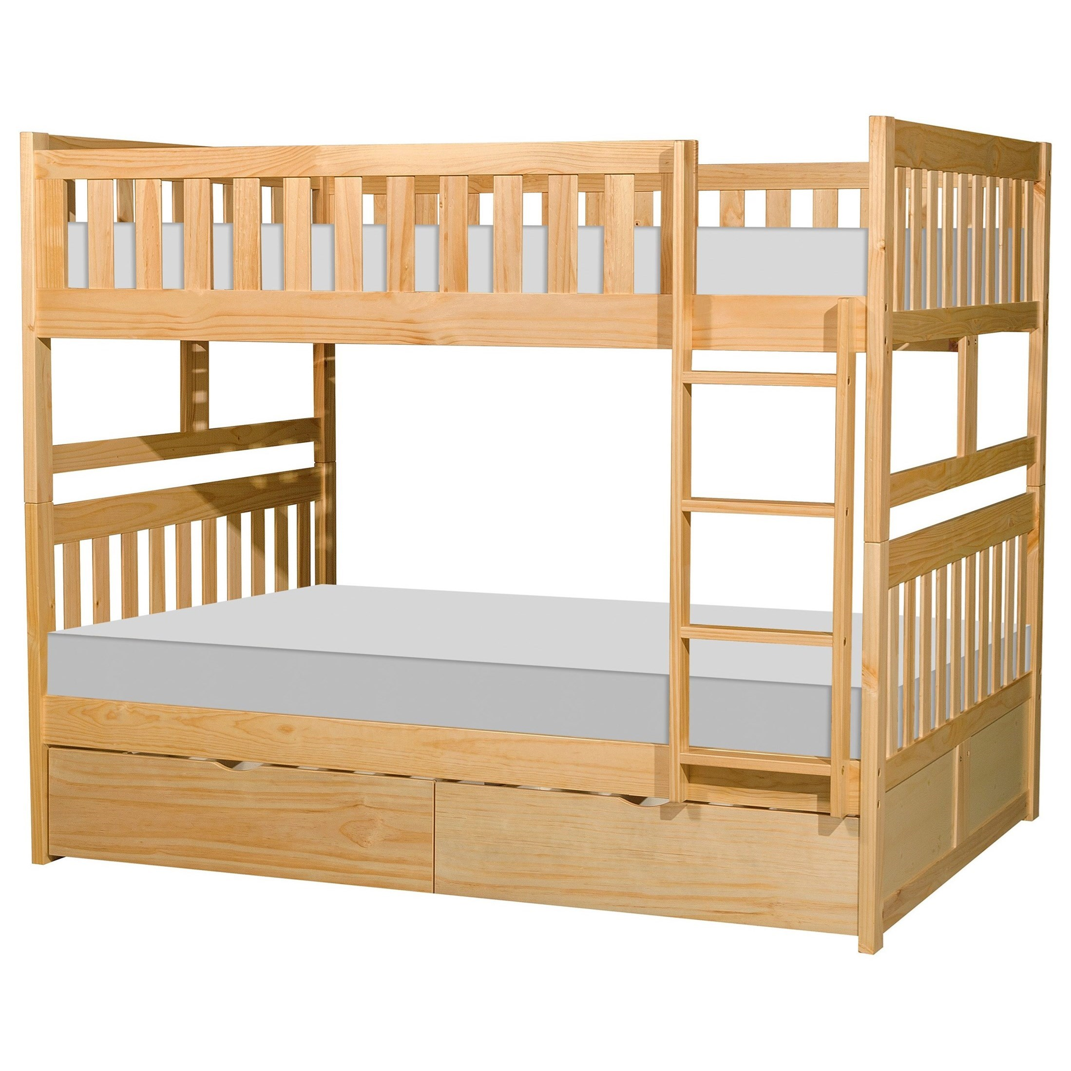 Natural Full Over Full Storage Bunk Bed by Home Style at Walker's Furniture