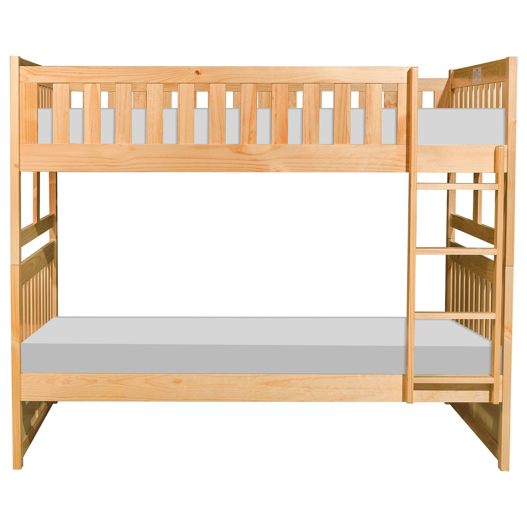 Natural Full over Full Bunk Bed by Home Style at Walker's Furniture
