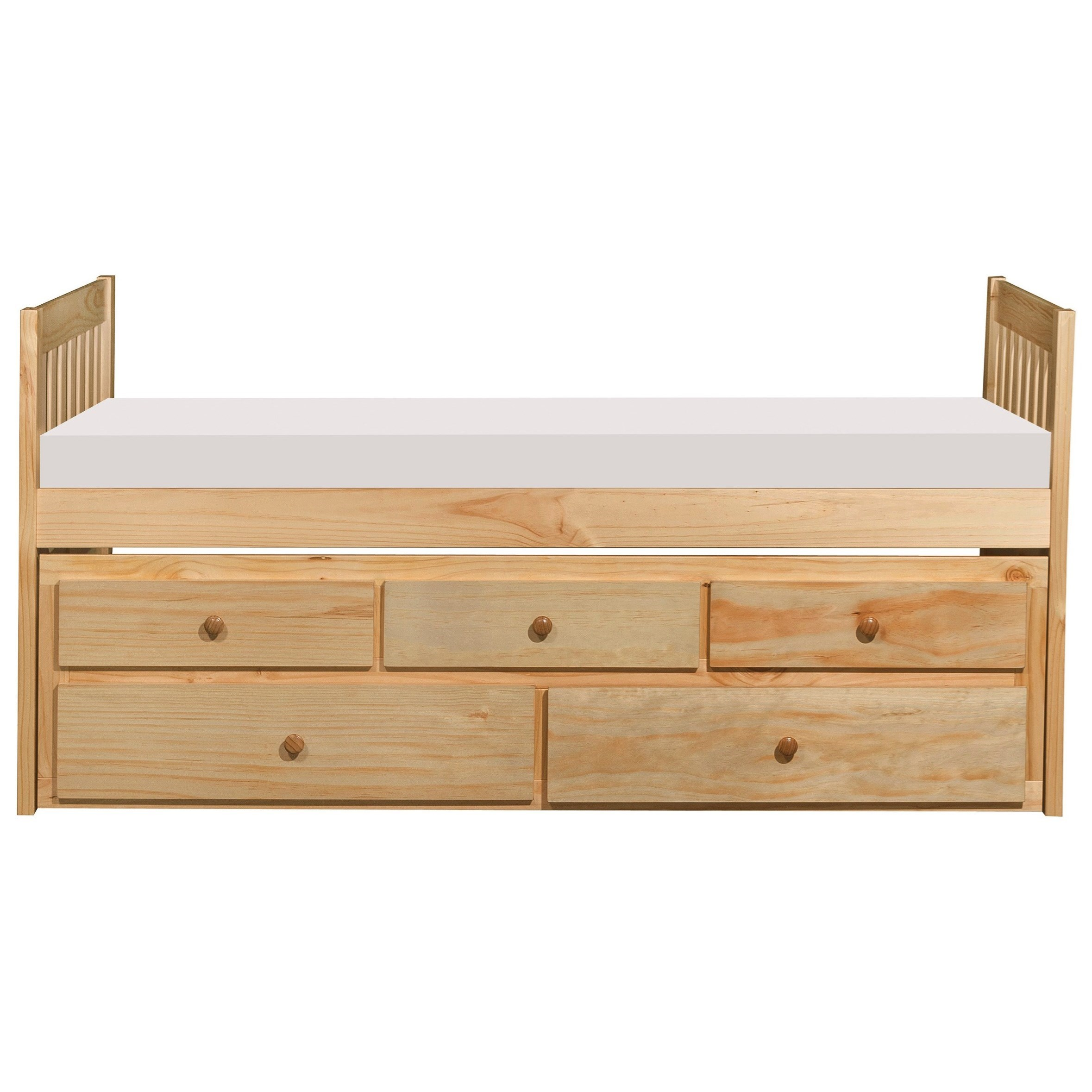 Natural Twin Captain's Bed by Home Style at Walker's Furniture