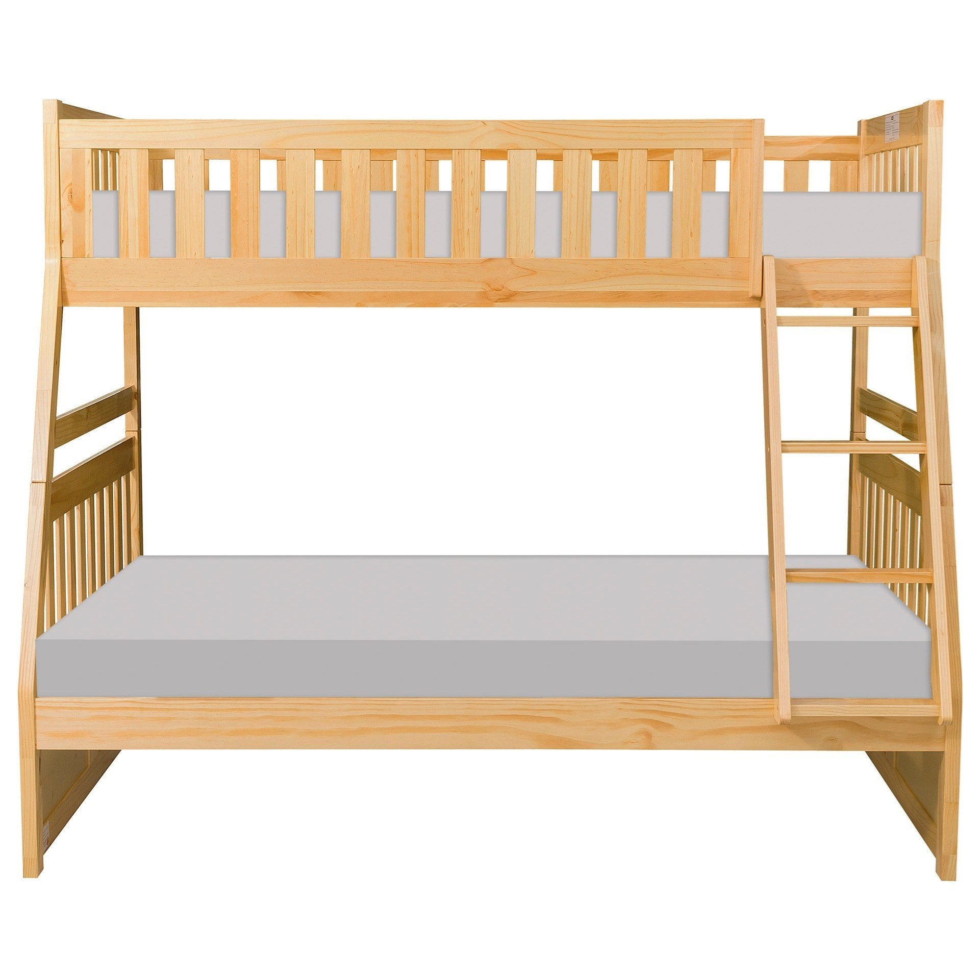 Natural Twin over Full Bunk Bed by Home Style at Walker's Furniture