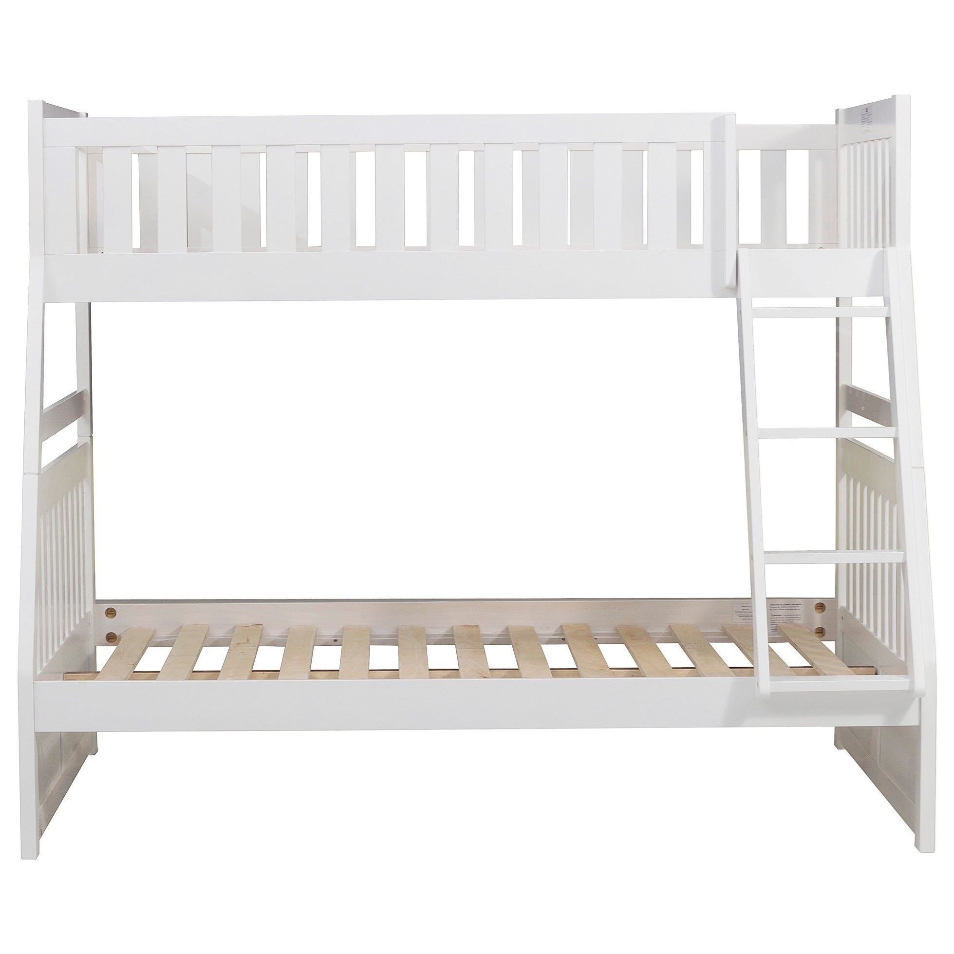 White Twin over Full Bunk Bed by Home Style at Walker's Furniture